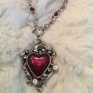 Collectible Brighton LeLouvre Red Crystal Necklace